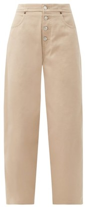 MM6 MAISON MARGIELA Exposed-button Straight-leg Jeans - Beige