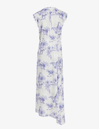 AllSaints Tate tajpur-print crepe maxi dress