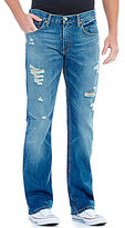 Levi's 527 Slim Bootcut Distressed Jeans