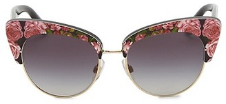 Dolce & Gabbana Sicilian Carretto 52MM Acetate Metal Cat Eye Sunglasses