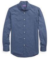 Ralph Lauren Gingham Cotton Dress Shirt Navy And Light Blue Multi 16