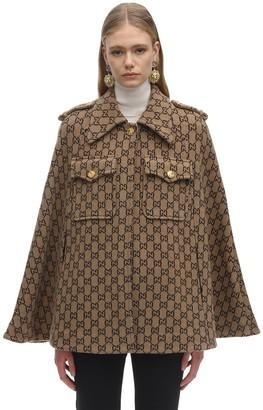 Gucci Gg Wool Cloth Cape
