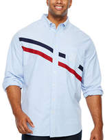 U.S. Polo Assn. Uspa Big and Tall Mens Long Sleeve Striped Button-Front Shirt