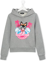 DSQUARED2 surfing beach hoodie - kids - Cotton - 14 yrs