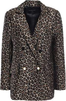 Mother of Pearl Francis Button-detailed Double-breasted Leopard-print Jacquard Blazer