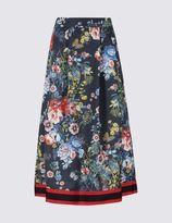 Marks and Spencer Floral Print Midi Skirt