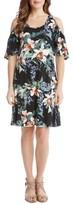 Karen Kane Women's Orhid Garden Cold Shoulder Dresss