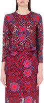 Sandro Floral-embroidered lace top
