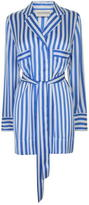By Malene Birger Lanfi Silk Trim Striped Shirt