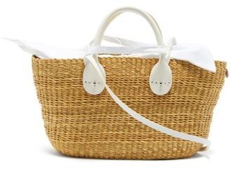 Muun Bony Straw Basket Bag - White Multi