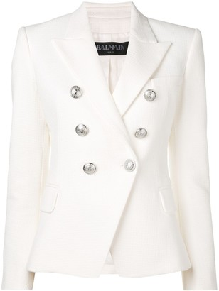 Balmain button embellished blazer