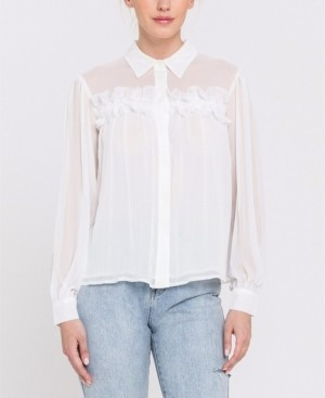 Endless Rose Chiffon Button Down Top