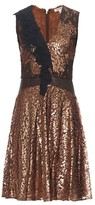 Sophie Theallet Metallic ruffle-trimmed dress