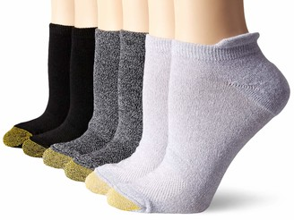 Gold Toe Women's Sport Vacation No Show Socks with Tabbed Back 6 Pairs