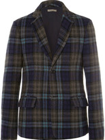 Bottega Veneta - Blue Checked Wool Blazer
