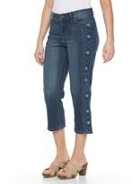 Gloria Vanderbilt Petite Jordyn Tuxedo Leg Capris