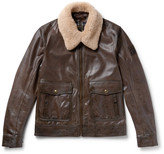 Belstaff Mentmore Shearling-Trimmed Leather Jacket