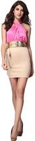 Romwe Crossed Collar Slim Bodycon Dress