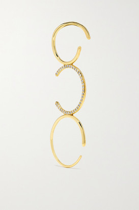 KatKim Gold Diamond Ear Pin - one size