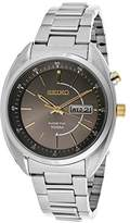 Seiko Men's Kinetic Gray Dial Stainless Steel