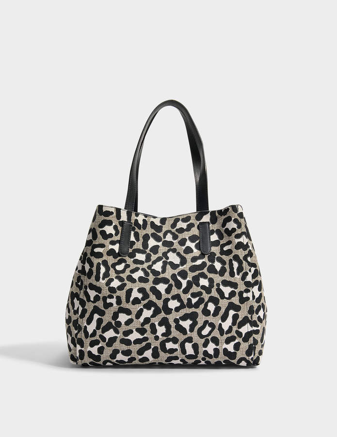 Gerard Darel Simple 2 Tote Bag in Panthere Printed Leather