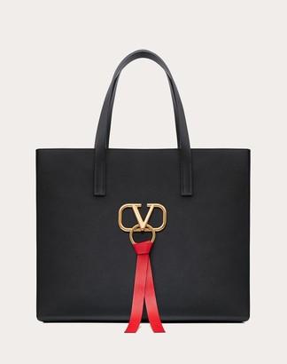 Valentino Garavani Large E/w V-ring Shopper Women Black OneSize