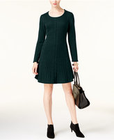 NY Collection Petite Fit & Flare Sweater Dress