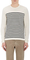 Piattelli MEN'S STRIPED COTTON CREWNECK SWEATER
