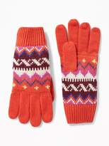 Old Navy Patterned Sweater-Knit Gloves for Women