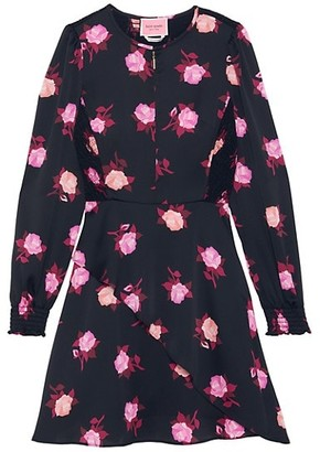 Kate Spade Rose Garden Satin Dress