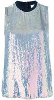 3.1 Phillip Lim iridescent sequin top - women - Silk/Spandex/Elastane/Viscose - S