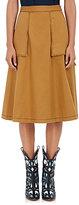 Maison Margiela Women's Twill A-Line Skirt-BROWN