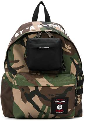 Eastpak x AAPE camouflage backpack