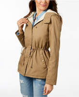 Collection B Juniors' Faux-Fur-Lined Anorak, A Macy's Exclusive
