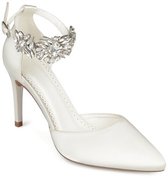 Journee Collection Loxley Embellished Ankle Strap D'Orsay Pump