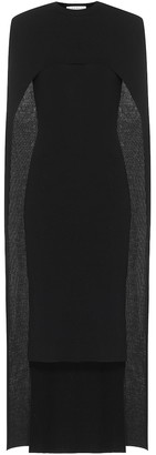 Givenchy Wool cape midi dress