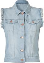 J Brand Jeans Light Blue Destructed Slim Jean Vest