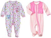 L.J Baby-Girls Footed Sleeper 2 Pack Pink 18 Months