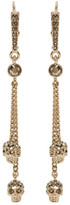 Alexander McQueen Gold Skull Chain Earrings