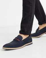 Base London kinsey loafers in navy suede