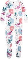 Tea Collection Tanka Footed Pajamas (Baby) - Chalk - 18-24 Months Baby - 18-24 Months