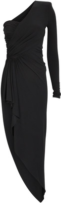 Alexandre Vauthier Draped Jersey One-Shoulder Dress