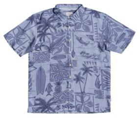 Quiksilver Waterman All Day Long Men's Short Sleeve Shirt
