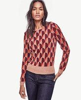 Ann Taylor Petite Geo Jacquard Sweater