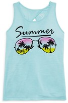 Flowers by Zoe Girls' Summer Shades Cutout Tank - Sizes S-XL