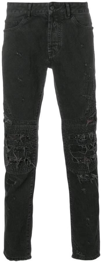 Marcelo Burlon County of Milan biker fitted jeans