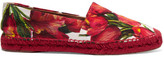 Dolce & Gabbana Floral-brocade Espadrilles - Red