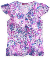 Epic Threads Kids Shirt, Girls Printed Ruffle Tee