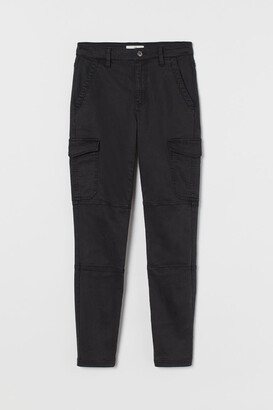 H&M Slim Fit Cargo Pants - Black