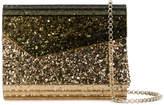 Jimmy Choo patent glitter clutch